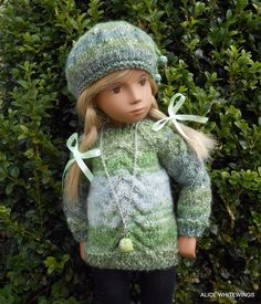 NEW HAND KNITTED OUTFIT FOR SASHA DOLL.