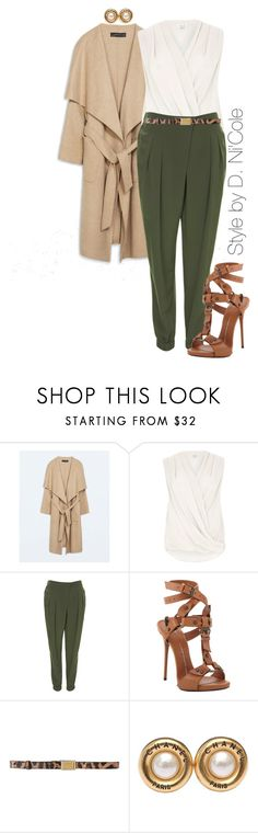 """""""Untitled #2268"""" by stylebydnicole ❤ liked on Polyvore featuring Zara, River Island, Topshop, Giuseppe Zanotti, Dolce&Gabbana and Chanel"""