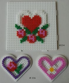 valentines fuse beads - Google Search
