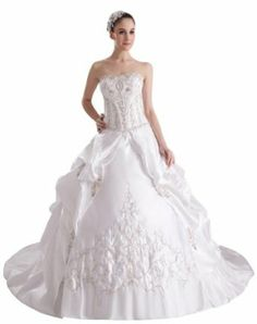 GEORGE BRIDE New Luxury Strapless Embroidery Sequins Ball Gown Wedding Dress