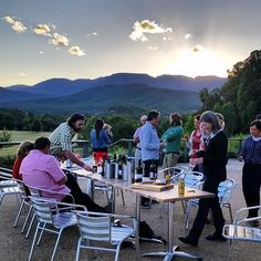 ringerreef's photo on Instagram - Staff gathering at dusk on the terrace. Near Bright, Vic.