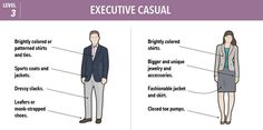"From ""baseline casual"" to ""boardroom attire,"" here's how to always look professional."