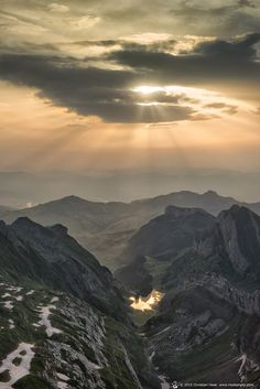 Sunrise on Mount Saentis, Switzerland