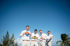 We found some super heroes over here! Groom and Friends Photography by WeddingDayStory, Destination Wedding Photography in Mexico, Costa Rica and Dominican Republic. Celebrating the Simple Romance of Weddings in the Sun. Visit Us! www.weddingdaystory.com
