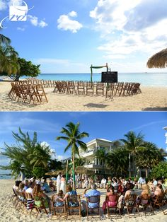 Ceremony in the round - Grand Cayman Wedding by Rebecca Davidson