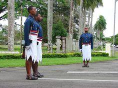 A guard before President Palace, Suva, Viti Levu Island, Fiji.