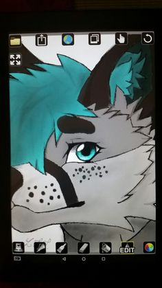 Here is the finished sketch of that furry I made the day before Easter. Drawn by DestinySilverfire (4/1/18)
