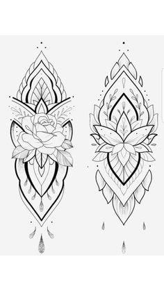 300 Sexy Tattoo Designs - Original by Tattooists Rose Tattoos, Sexy Tattoos, Body Art Tattoos, Girl Tattoos, Small Tattoos, Sleeve Tattoos, Dotwork Tattoo Mandala, Mandala Tattoo Design, Tattoo Designs