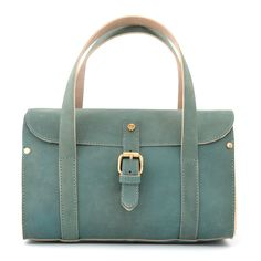 2fc313d564e8 The Leighton Duck Egg Blue Hunter Leather Bowler Bag by Yoshi