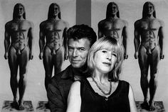 David Bowie and Marianne Faithful