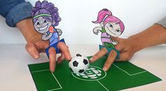 Soccer Player Finger Puppets | Play