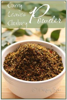 Monsoon Spice | Unveil the Magic of Spices...: Curry Leaves Chutney Powder: An Aromatic Affair!