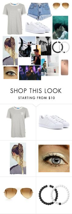 """""""Casual date with Zach 😘❣️"""" by alisa-avery ❤ liked on Polyvore featuring Levi's, Topshop, adidas, Ray-Ban, Mura and Lokai"""