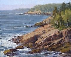 The Coast of Maine by Kathleen Dunphy Oil ~ 8 x 10