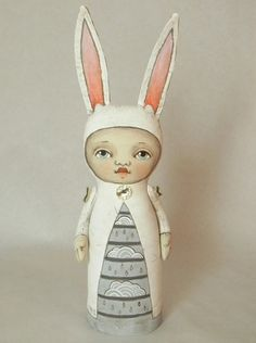 contemporary folk art dolls by Cart Before The Horse