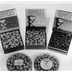 Major #tbt to these amazing gift boxes filled with Cocoa Almonds, Burnt Almonds, and Assorted Dragees. #vintagechocolate #chocolatealmonds #vintagenyc #throwbacksnack #pannedchocolates #KoppersChocolate #gourmetchocolate