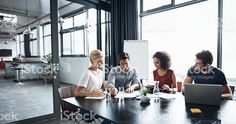 Planning as a team royalty-free stock photo