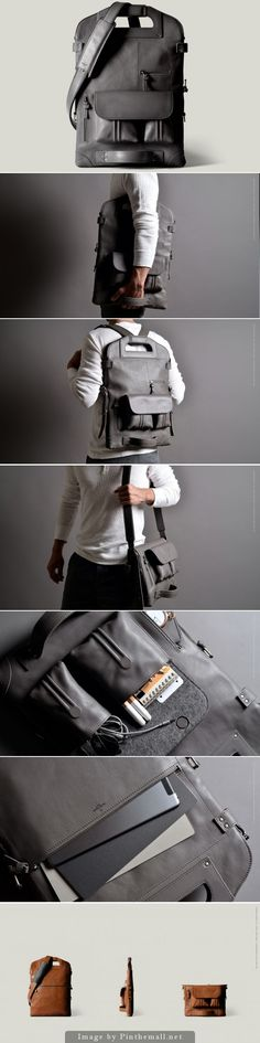 Good grief, this bag is amazing! - 2Unfold Laptop Bag - by Hard Graft. | About $800 USD. Well done /hardgraft/