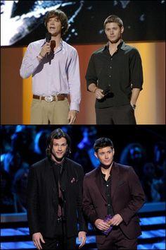 Jared & Jensen in 2006 & 2013... Gorgeous