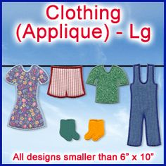 A Clothing Design Pack - Lg (Applique) design (X1234) from www.Emblibrary.com