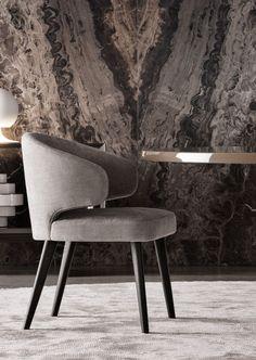 Minotti Aston Dining Chair: