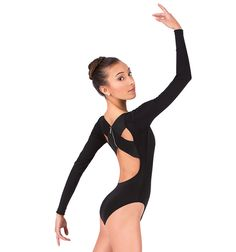 Lacey Schwimmer Long Sleeve X-Back Leotard