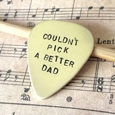 Hand Stamped Guitar Pick Gift For Dad From Child Stocking Stuffer Gift From Kids To Daddy Couldn't Pick A Better Dad Christmas Holiday Gift