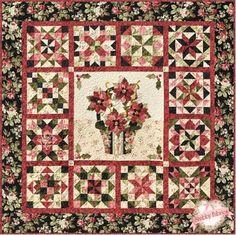Poinsettia Noel block of the month