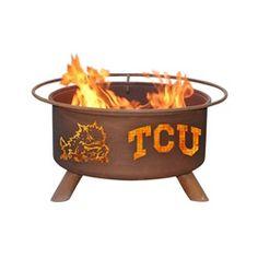TCU Texas Christian Portable Steel Fire Pit Grill