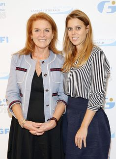 Sarah, Duchess of York (L) and Princess Beatrice of York attend the Annual Charity Day hosted by Cantor Fitzgerald, BGC and GFI at GFI Securities on September 12, 2016 in New York City.