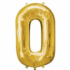 Gold Number 0 Balloon - Foil - Number Balloons (each) Gold Balloons, Confetti Balloons, Wedding Balloons, Large Number Balloons, 50th Birthday Balloons, 70th Birthday, Gold Number, Number 0, Popsicles
