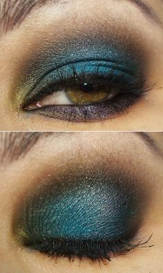 Gorgeous eye shadow fit for a prom <3
