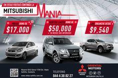 En diciembre seguimos con la Mitsubishi Mania. ¡Estrena! #Mitsubishi #Mirage #Outlander #L200. Solicita tu prueba de manejo totalmente ¡GRATIS! al 4-38-82-12