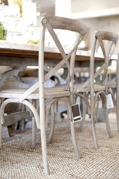 cafe chairs in limed oak