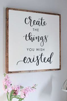 Calligraphy canvas quote art