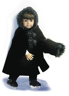 Free Pattern for 18 inch doll,  Winter Doll Hat and Muff