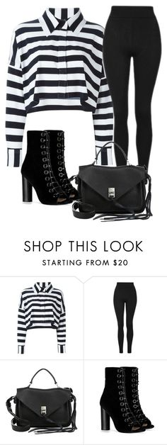 """stripes"" by lovearta-h on Polyvore featuring Norma Kamali, Topshop, Rebecca Minkoff, Barbara Bui and stripes"