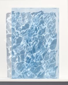 "Sophia Collier - A Little Blue Ocean, 2012, carved acrylic, 24"" x 16"" x 2"""
