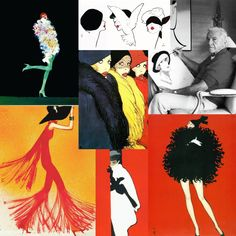 """""""Who knew that 40 years after the 'death' of fashion illustration it would be undergoing such a revival of interest? Rene Gruau, Drawing Fashion, Illustrator, Drawings, Movie Posters, Art, Art Background, Film Poster, Kunst"""