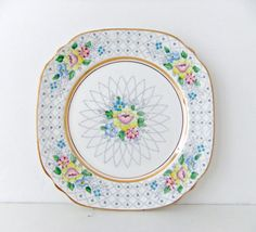 Set of Four Vintage China Plates  by #peonyandthistle #etsy
