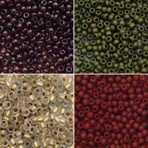 Exclusive Beadaholique Toho Seed Bead Palette, Round 11/0, 32 Grams, Tuscan Vineyard