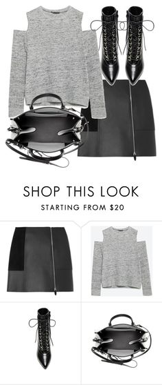 """""""Untitled #19317"""" by florencia95 ❤ liked on Polyvore featuring Alexander Wang, Zara, Yves Saint Laurent and Balenciaga"""