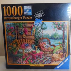 Ravensburger Puzzle 1000 Pieces The Lodge Premium Softclick Technology NIB #Ravensburger