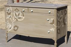i would love to paint an old dresser. in whatever pattern you want to spice up a room!