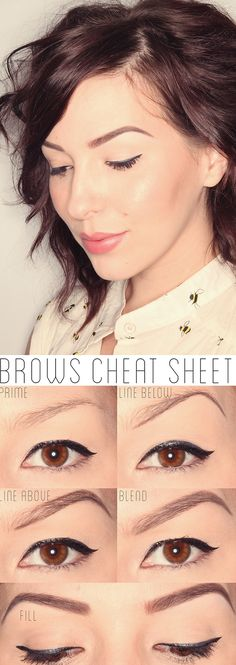 How To Get The Perfect Brows (Full Tutorial) ;; love her eyeliner as well <3