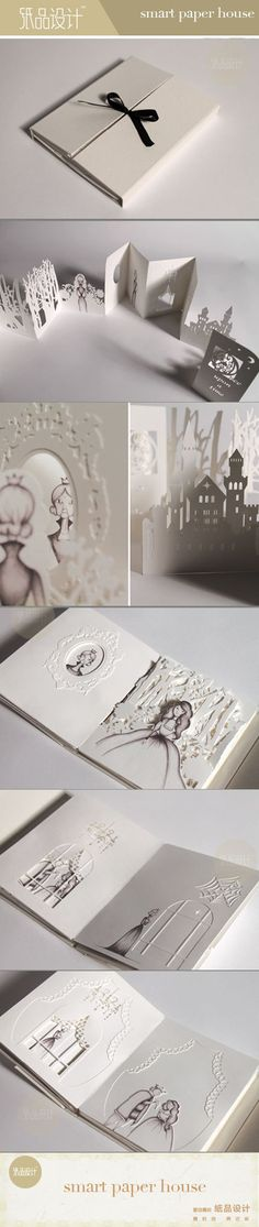The Hiroko Matshushita The paper-cut book works - repinned unfortunately link does not seem to work.