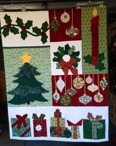 """Featured Quilts: Holiday Edition Part II of 24 Blocks. from: Jeanne Maynard Grymes: """"A Christmas sampler designed by Marjorie Carlson and Jeanne Grymes..."""""""