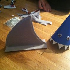 Shark hats and fins for the kiddos!