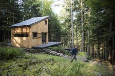 Where tech millionaires go 'Into the Wild': Vimeo founder and seven friends build New York cabin commune where they can escape the rat race