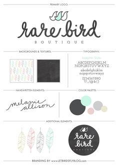 Rare Bird Boutique branding
